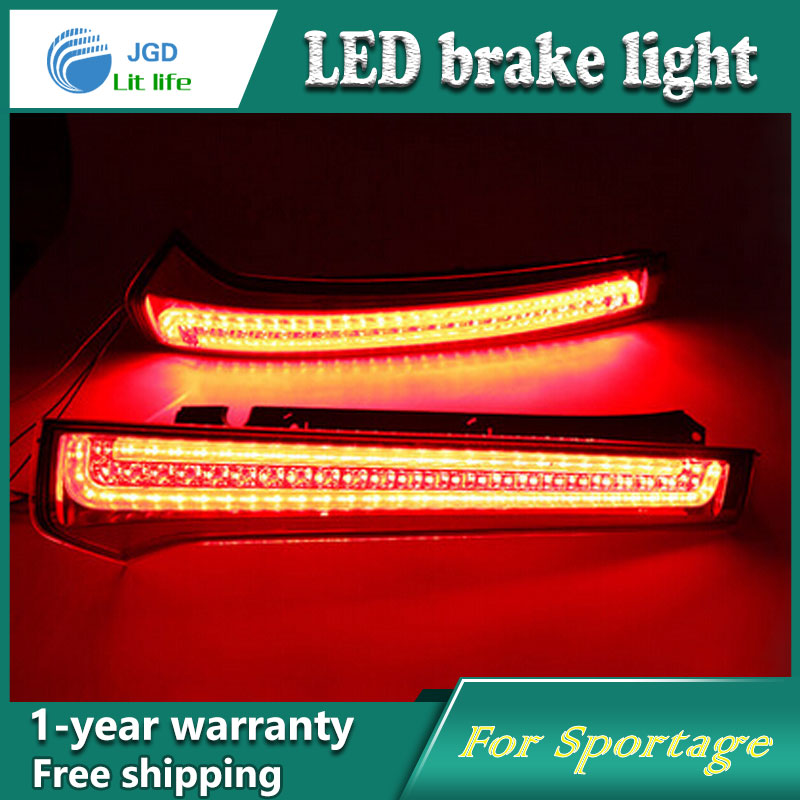 Car Styling Rear Bumper LED Brake Lights Warning Lights case For KIA Sportage 2013 Accessories Good Quality купить