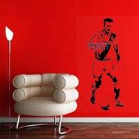 David Beckham Wandtattoo England LA Galaxy Vinyl Aufkleber Boy Zimmer Kunstwand Fußball Player Poster Decor Abnehmbare H143cm xW55cm