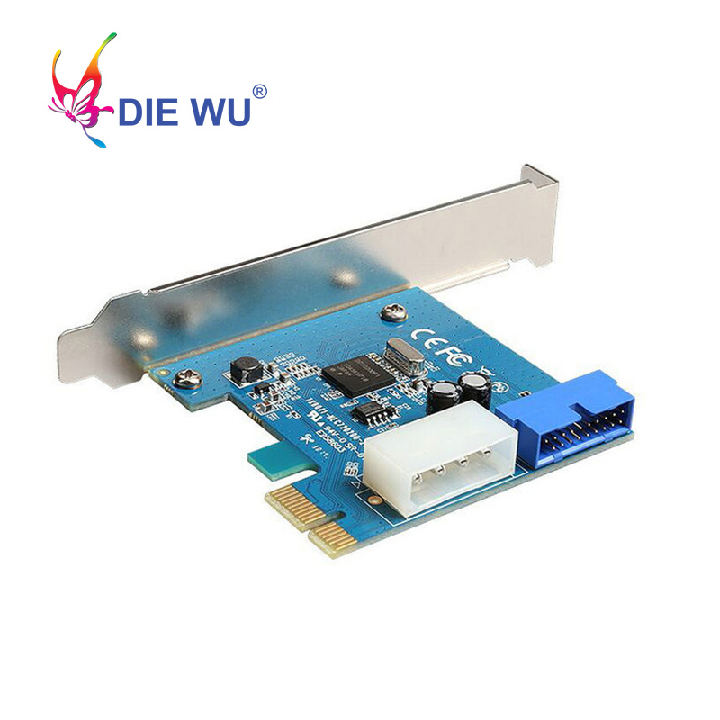 DIEWU PCI-E To USB 3.0 Expansion Card With NEC Converter Interface Expansion Card I/O Card With 4 PIN Power Supply