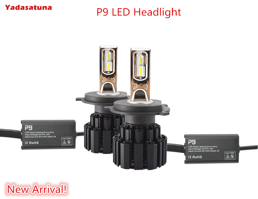 New!High Bright Anti-Interference H4(9003 Hi/Lo) LED Headlight Bulbs Conversion Kit 100W 13600LM High/Low Beam/ Fog Light Bulbs 6th 80w led headlight conversion kit h4 9003 hb2 led bulbs high low beam super bright lamp