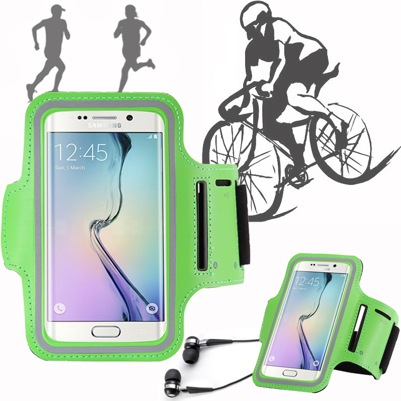 For Sumsung galaxy s7 s6 j3 j7 s4 s3 a5 j5 2016 note 3 5 Sport Running Case Capa Arm Band Holder Belt Phone Cycling Funda Cover