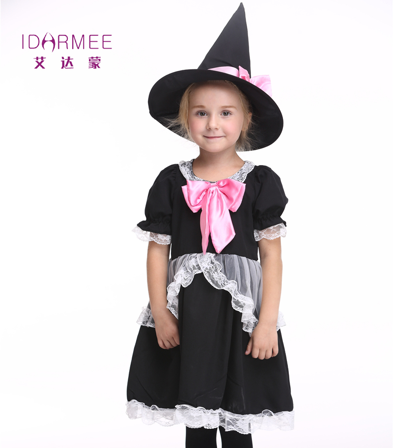 idarmee witch costume girls dress carnival stage performance clothes outfits cute halloween costume for girls s9044 - Witch Halloween Costumes For Girls