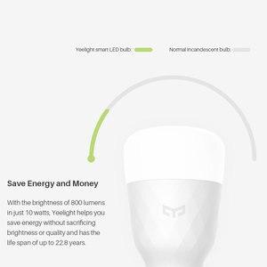 Image 5 - Xiao mi Yeelight RGB الذكية LED لمبة 10 واط E27 الملونة 800 لومينز الليمون الذكية مصباح ل mi المنزل App التحكم عن بعد الأبيض/RGB الخيار