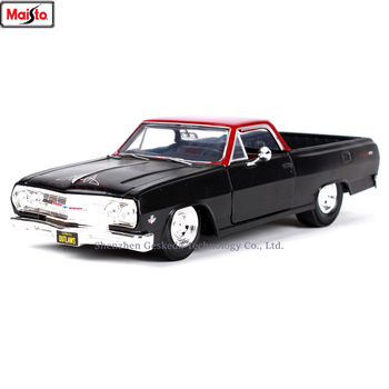 Maisto 1:24 1965 Chevrolet EL CAMINO simulation alloy car model crafts decoration collection toy tools gift