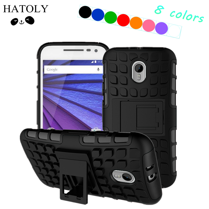 For Motorola Moto G3 Case XT1541 XT1542 XT1543 Heavy Duty Hard Rubber Phone Case For Motorola Moto G3 Cover For Motorola G3 Bag