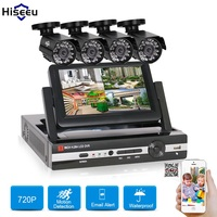 4CH HD 1200TVL 720P 1500TVL 960P 7 Inch Displayer CCTV KIT System IR Bullet Outdoor Surveillance