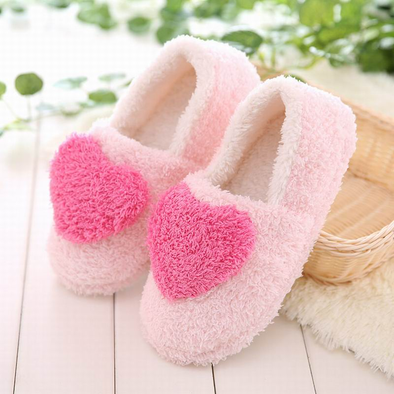 Lovely Ladies Home Floor Soft Women indoor Slippers Outsole Cotton-Padded Shoes Female Cashmere winter Warm Casual Shoes TX005W lovely autumn winter lover cotton padded women