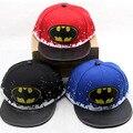 Sombrero de los niños al por mayor de la historieta de Batman hip hop cap primavera gorra de béisbol del bebé