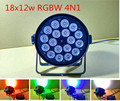 4pcs/lot 18x12W RGBW Led Par Light DMX Stage Light Business Lights Professional Cast alumin Par Can for Party KTV Disco DJ Lamp