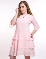 Dress Chiffon Plus Size Vestidos Summer Ruffles White Dress Half Butterfly Sleeve Pleated Loose Black Women