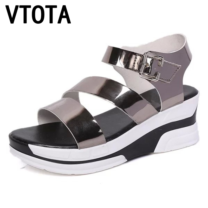 VTOTA Sandals Women Wedges Shoes Gladiator Sandals Women Summer Shoes Slip-On Platform Fashion Ladies Shoes sandalias mujer X603 phyanic 2017 gladiator sandals gold silver shoes woman summer platform wedges glitters creepers casual women shoes phy3323