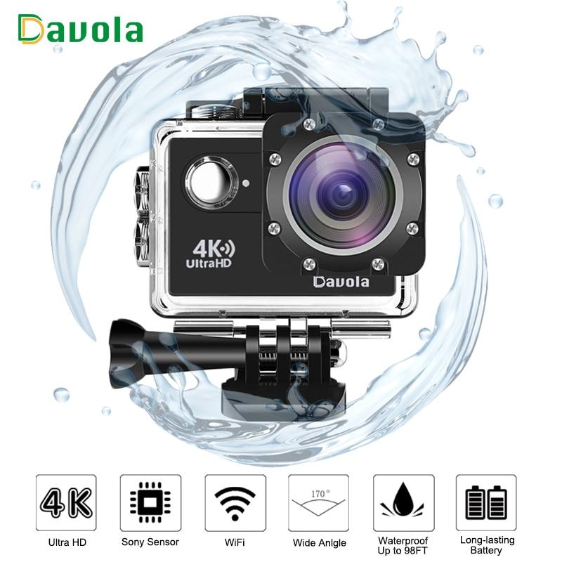 Davola 4K Action Camera WiFi Waterproof underwater diving go Sport Camera HD 1080P Outdoor sports mini Helmet pro action cam DVR