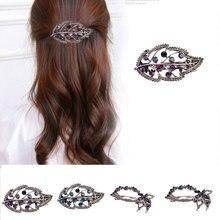 Fashion Crystal Rhinestone Heart Leaf Star Shape Hair Clip Hairclip Elegant Barrette Headwear Pins Wedding Clips for Women