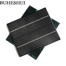 BUHESHUI Epoxy 6W 18V Solar Panel Monocrystalline Silicon Grade A Solar Cell For 12V Battery Charger Study Educational Kits