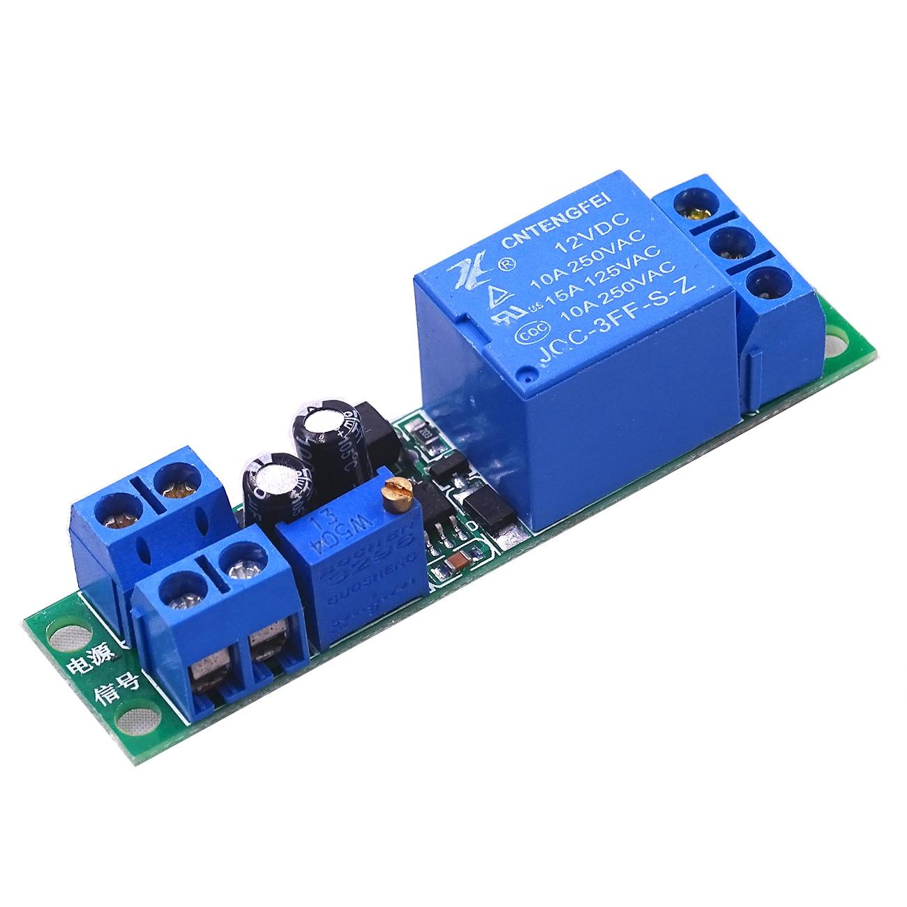 Dc 12v Ne555 Adjustable Delay Timer Relay Time Relay