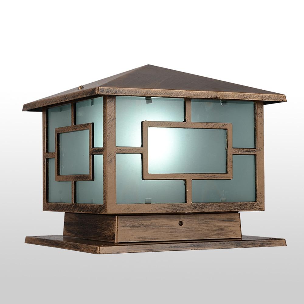 oriental outdoor lighting. European Royal Wall Pillar Lamp Oriental Loft Shape Bronze Landscape Light Iron Craft Garden/ Outdoor Lighting A