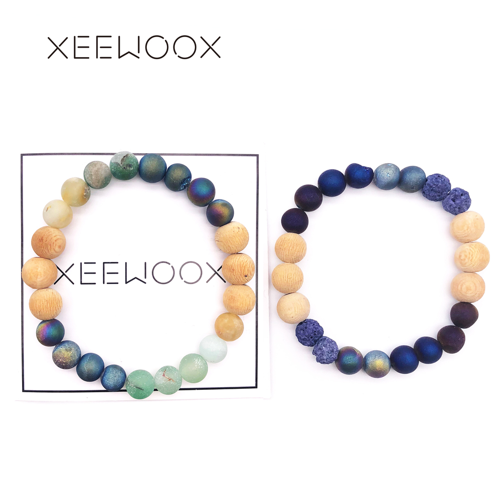 Couple Bracelet 2018 New Bracelet Natural Stone For Women Man Boho beads Jewelry Round Beads Bracelet Charm Friendship Gift