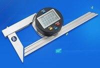 300 мм 360 градусов Цифровой Электрический нержавеющей стальной транспортир Универсальный Столяр метр Гониометр угол квадратный Калибр инст