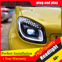 Auto Clud Car Styling For BMW Smart Headlights For Smart Head Lamp Led DRL Front Bi