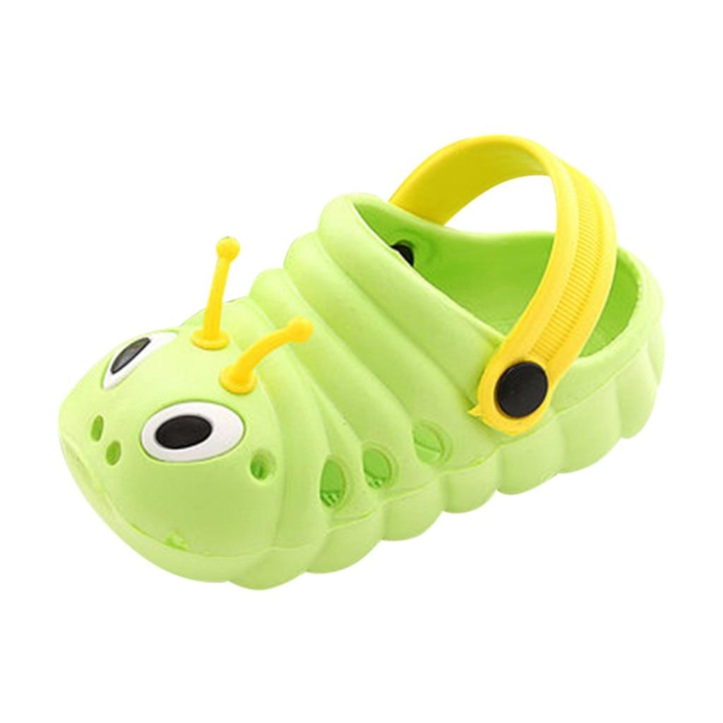 Детские сандалии; детские летние садовые шлепанцы для мальчиков и девочек; Легкие пляжные Нескользящие сандалии с отверстиями для малышей; яркие цвета;# p68 - Цвет: Зеленый