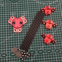 All Metal Reprap Delta kossel k800 magnetic dual effector kit For DIY Delta Kossel 3D printer Red Color