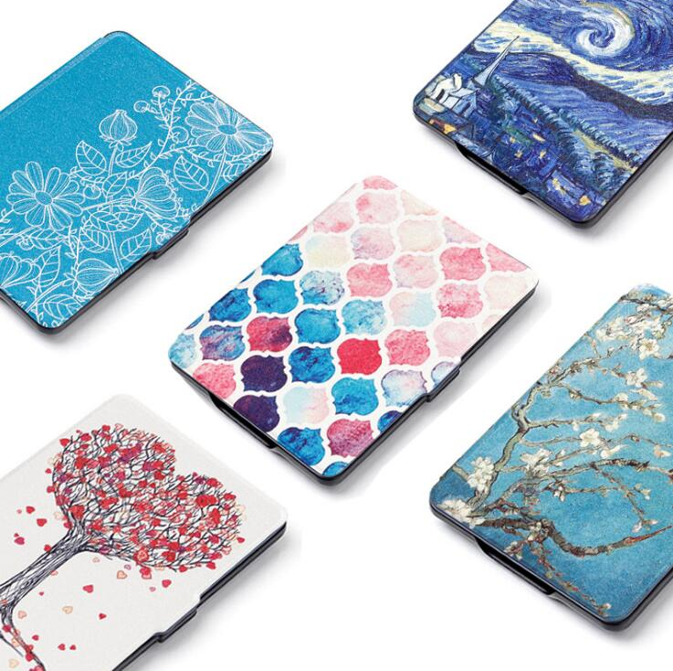 Gligle Motive Leather Case Cover For Amazon Kindle Paperwhite 1/2/3 E-book Shell 1pc/lot+screen Film+touch Pen Free Shipping