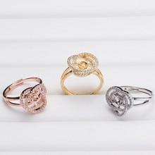 Nouveauté éléments de Base de montage bague réglable ensemble de bijoux pièces accessoires pour perles Akoya Edison perles de corail Jade