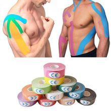 Elastic Cotton Roll Adhesive Tape 5cm Sports Muscle Tape Bandage Care Kinesiology First Aid Tape Muscle Injury Suppor цена