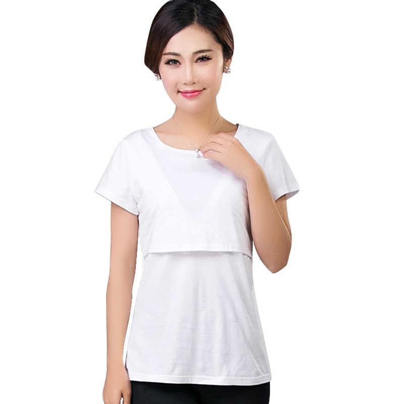 b3bbcc814b840 ... Summer Breast Feeding Tops Tees Maternity Nursing Clothes Pregnant  Women Breastfeeding T-shirt Maxi Premama ...