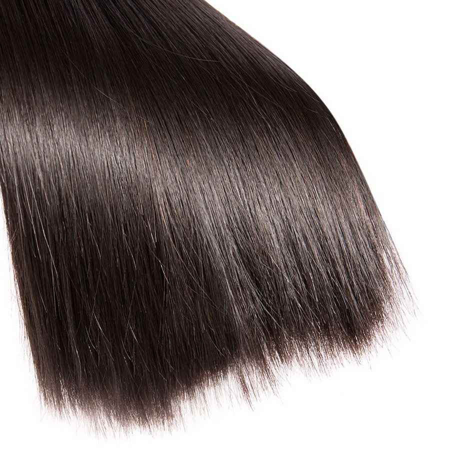 MS לולה ברזילאי ישר שיער ערב 1/3/4 חבילות 100% שיער טבעי ללא רמי שיער הארכת משלוח חינם 30 32 34 36 38 40 אינץ