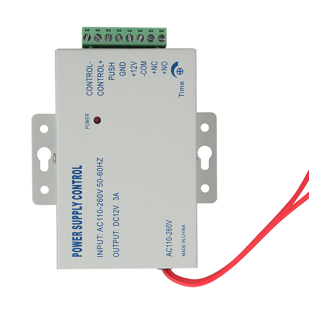 MOUNTAINONE  AC 110-240V IN To DC 12V 3A Power Supply For Door Access Control Worldwide Voltage