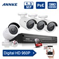 ANNKE 1.3MP Security Camera System POE NVR Whit 4pcs 1920*960 ONVIF POE IP Camera 4CH CCTV Video Surveillance with 1TB