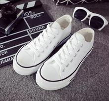 Low help han edition fashionable pure color male with female classic pure color canvas shoes couple students