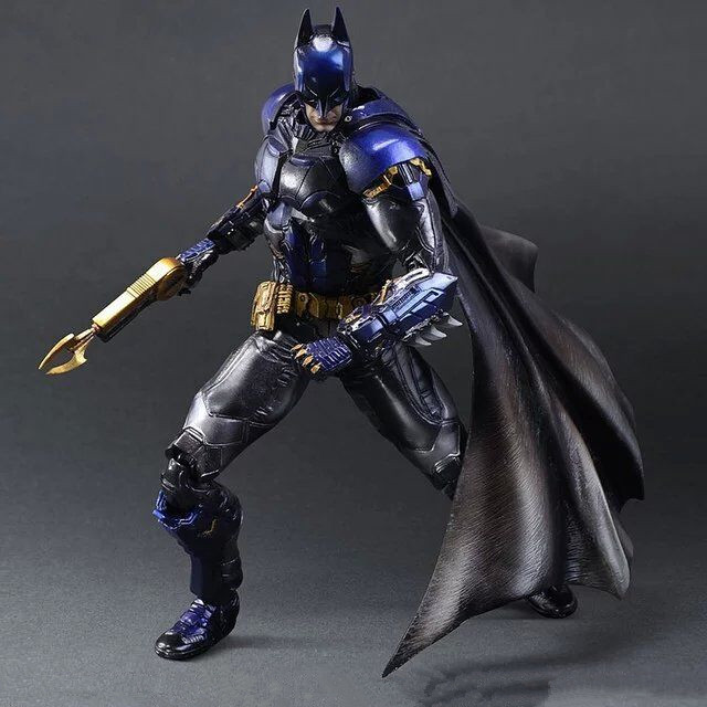 Huong Movie Figure 28 CM Playarts KAI Batman Arkham Knight Batman Blue Limited Ver. PVC Action Figure Collectible Model Toy movie figure 25 cm batman arkham knight batgirl variant batgirl movable pvc action figure collectible toy model christmas gift