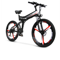 48V Fold Electric Mountain Bike 26inch 3spokes Wheels 250w Rear Motor 24 Speed MTB Ebike Pas