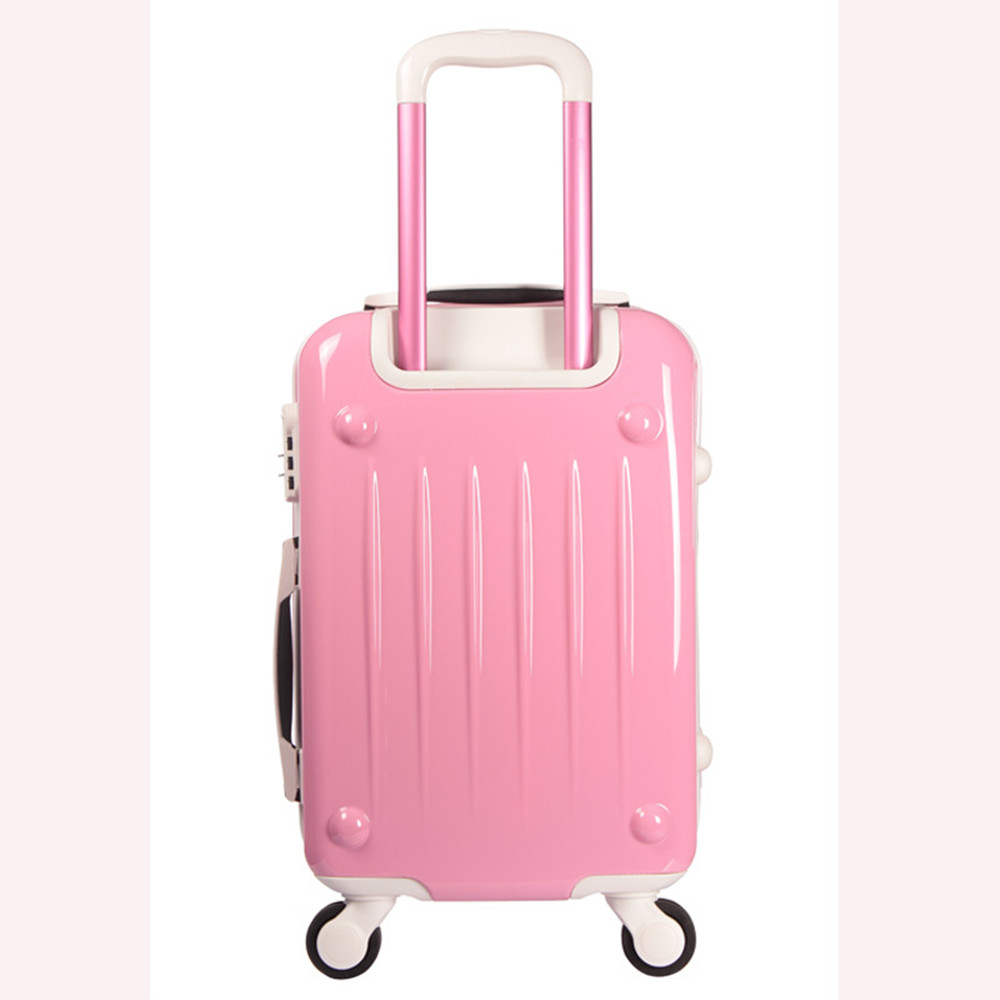 Aliexpress.com : Buy Womens Hard Shell Luggage Girls Pink lily ...