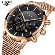 2018 LIGE Watches Mens Luxury Brand Quartz Clock Fashion Men Sport Waterproof Reloj Hombre Watch Male Relogio Masculino Hondiky недорого