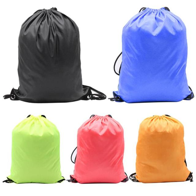 20884780e6bc Men Women Travel Casual Drawstring Bag Soft String Backpack Travel Beach  Bags Outdoor Sport Shoes Storage Bags