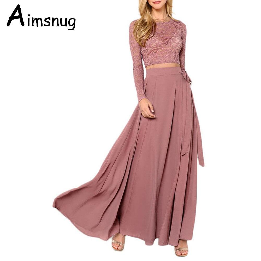 0c23ad657786ae Goede Kopen 2019 Mesh Kant Mode Roze Jurken Sexy Vrouwen Vrouwelijke ...