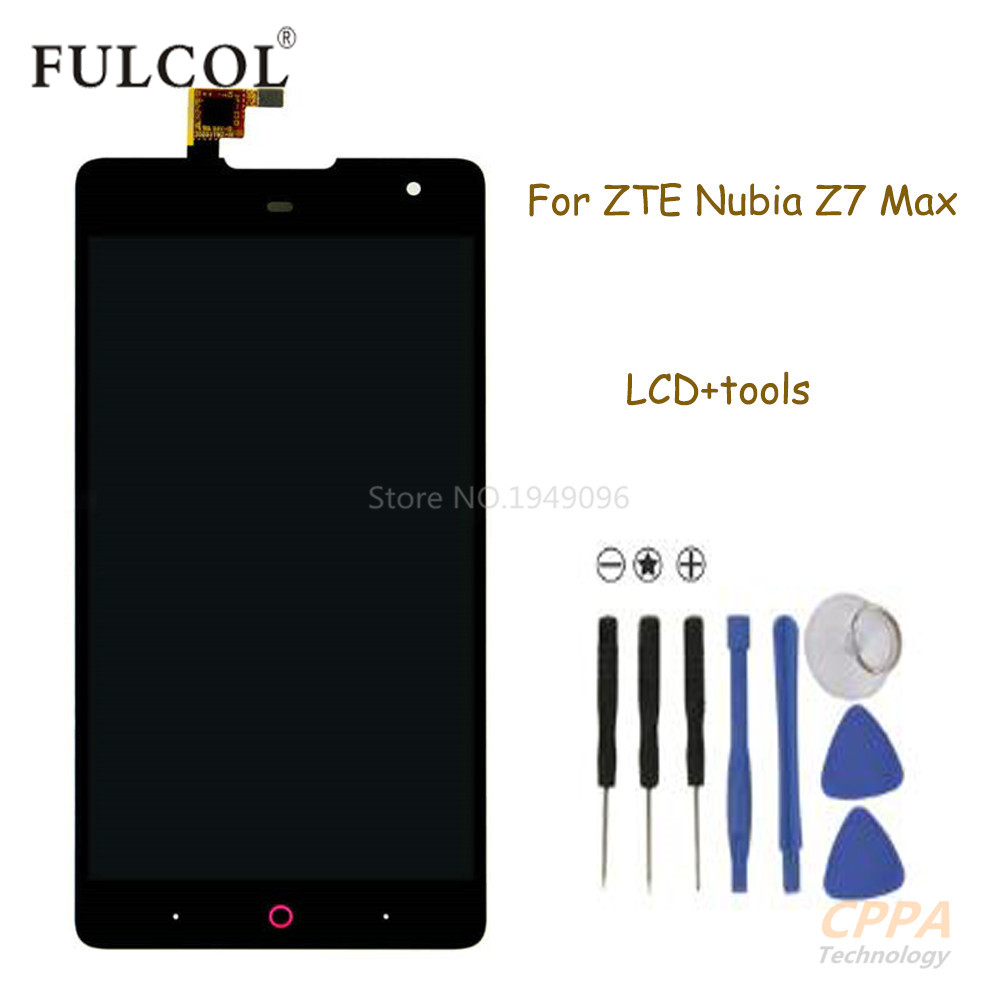 Подробнее о New For ZTE Nubia Z7 MAX NX505J LCD Display With Touch Screen Digitizer Assembly + Tools Replacement (Black) free shipping new for zte b880 lcd display with touch screen digitizer assembly black free shipping