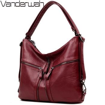 Новый Три молнии многофункциональный кожаный Для женщин сумка женская сумки 2018 дизайнер Сумки Высокое качество брендов большая сумка