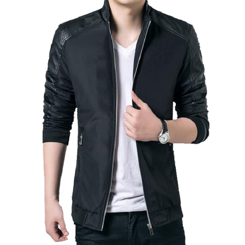 New Men s Casual Coats Men Thin Bomber Jackets Male Outerwear Slim Fit Windbreaker Patchwork Brand