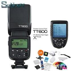 Godox TT600 GN60 HSS 1/8000s Camera Flash Speedlite + 2.4G Wireless X System Xpro-C Transmitter For Canon 850D 800D 760D 5Ds 7D