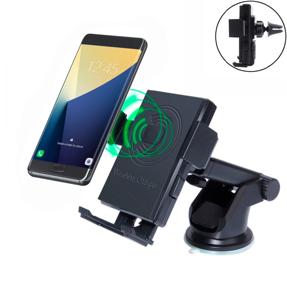 qi wireless charger car charging dock phone chargers with. Black Bedroom Furniture Sets. Home Design Ideas