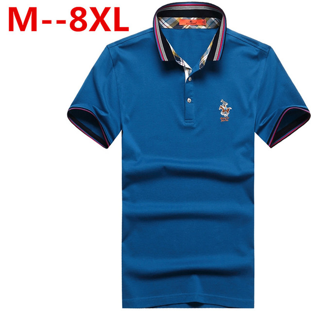 9XL 8XL 7XL 6XL 5XL Men Polo Shirt Slim Fit Short Sleeve 100% Cotton Brand Clothing Fashion Summer Letter Logo Mens Polo Shirts