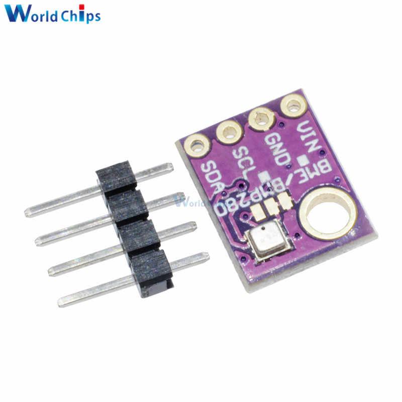 GY-BME280 GY BME280 I2C SPI Breakout Temperature Humidity Barometric  Pressure Digital Sensor Module 3 3V 5V High Precision 3In1