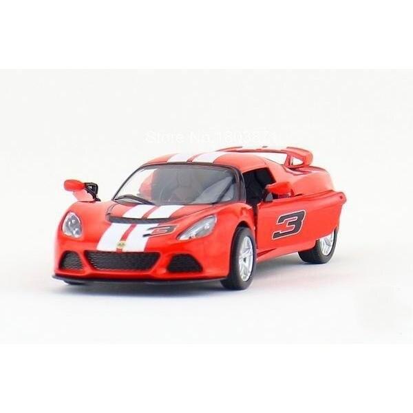 Дети Дети Kinsmart 2012 Lotus Exige S Печати Модель Автомобиля 1:32 KT5361F 5 inch Diecast Металлического Сплава Игрушечных Автомобилей Вытяните Назад подарок