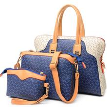 Retro fashion three-piece picture pack Female brand shoulder bag large capacity bag handbag diagonal arrow pattern
