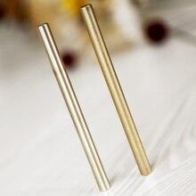 Дешевые Ретро латунные ручки чистый металл латунь ручка вручную тактическая ручка Медь подарок стилус Частный Открытый Travel Kit
