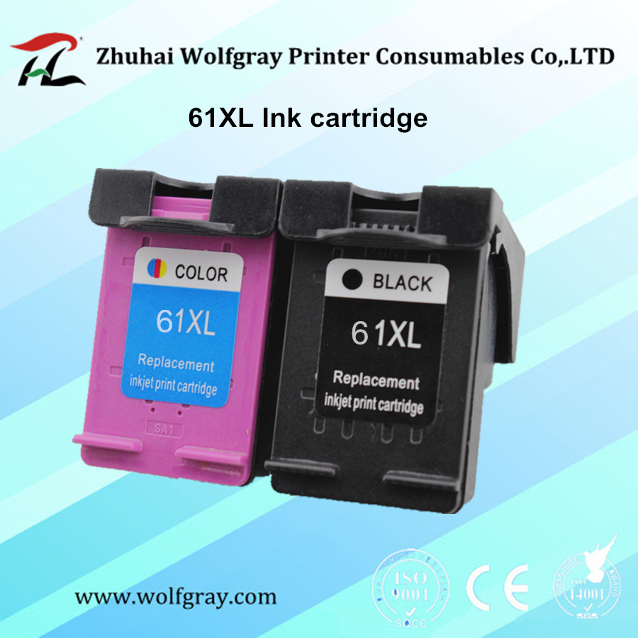 2PCS 61XL ink cartridge for HP 61 XL use for Printer Deskjet 1000 1050 1055 2000